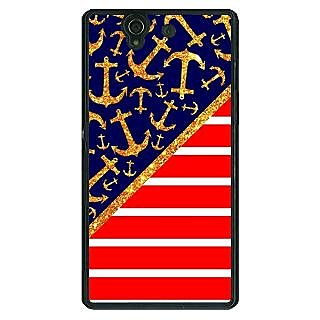 1 Crazy Designer Anchor Pattern  Back Cover Case For Sony Xperia Z C460786