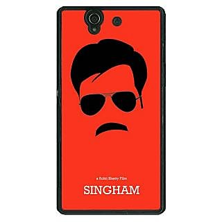 1 Crazy Designer Bollywood Superstar Singham Back Cover Case For Sony Xperia Z C461079