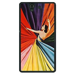 1 Crazy Designer Colours Back Cover Case For Sony Xperia Z C461381