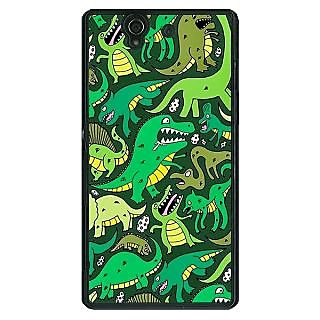 1 Crazy Designer Dinosaurs Pattern Back Cover Case For Sony Xperia Z C461383