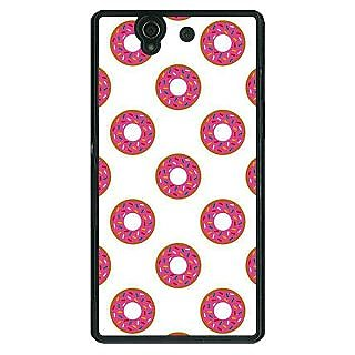 1 Crazy Designer Donut Pattern Back Cover Case For Sony Xperia Z C461384