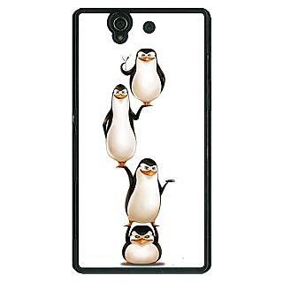 1 Crazy Designer Penguins Madagascar Back Cover Case For Sony Xperia Z C461385