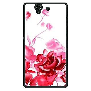 1 Crazy Designer Floral Pattern Back Cover Case For Sony Xperia Z C461410