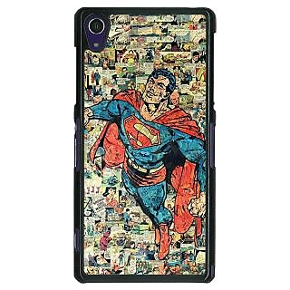 1 Crazy Designer Superheroes Superman Back Cover Case For Sony Xperia Z1 C470038