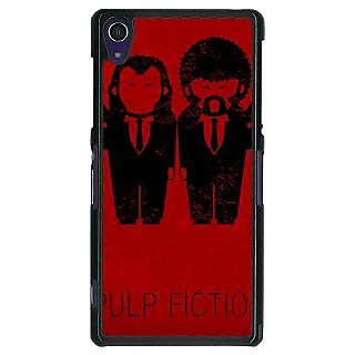 1 Crazy Designer Pulp Fiction Back Cover Case For Sony Xperia Z1 C470353
