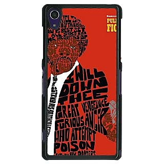 1 Crazy Designer Pulp Fiction Back Cover Case For Sony Xperia Z1 C470354