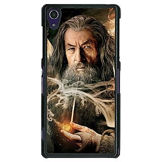 1 Crazy Designer LOTR Hobbit Gandalf Back Cover Case For Sony Xperia Z1 C470358