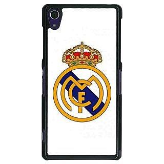 1 Crazy Designer Real Madrid Back Cover Case For Sony Xperia Z1 C470584