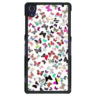 1 Crazy Designer Butterflies Back Cover Case For Sony Xperia Z1 C470709