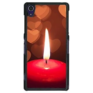 1 Crazy Designer Candle Light Romance Back Cover Case For Sony Xperia Z1 C470713