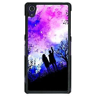 1 Crazy Designer Date Night Back Cover Case For Sony Xperia Z1 C470717