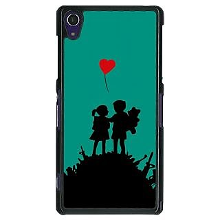 1 Crazy Designer Cute Couple  Back Cover Case For Sony Xperia Z1 C470724