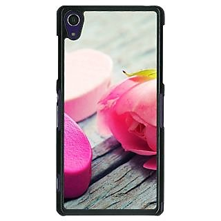 1 Crazy Designer Hearts Back Cover Case For Sony Xperia Z1 C470729