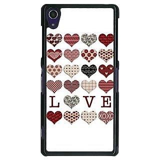 1 Crazy Designer Hearts Back Cover Case For Sony Xperia Z1 C470742