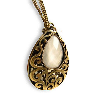 Kaizer Drop Design Carved Shape necklace