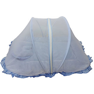 Baby Bedding With Net Blue