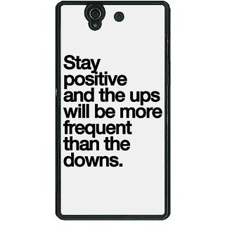 1 Crazy Designer Quotes Back Cover Case For Sony Xperia Z C461187