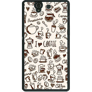 1 Crazy Designer Coffee Love Back Cover Case For Sony Xperia Z C461430