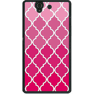 1 Crazy Designer Morocco Pattern Back Cover Case For Sony Xperia Z C461439