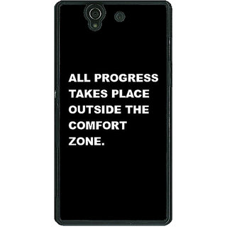 1 Crazy Designer Quote Back Cover Case For Sony Xperia Z C461475