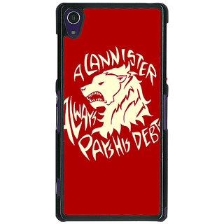 1 Crazy Designer Game Of Thrones GOT House Stark  Back Cover Case For Sony Xperia Z1 C470123