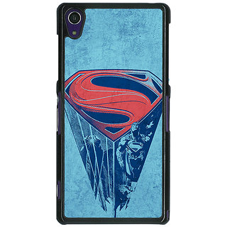 1 Crazy Designer Superheroes Superman Back Cover Case For Sony Xperia Z1 C470387