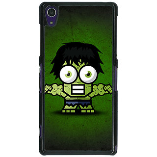1 Crazy Designer Big Eyed Superheroes Hulk Back Cover Case For Sony Xperia Z1 C470394
