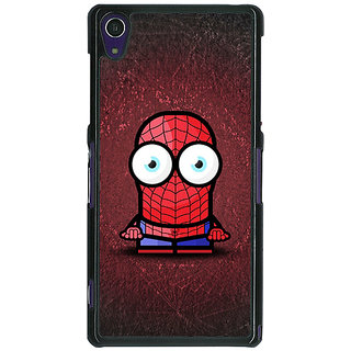1 Crazy Designer Big Eyed Superheroes Spiderman Back Cover Case For Sony Xperia Z1 C470398