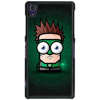 1 Crazy Designer Big Eyed Superheroes Green Lantern Back Cover Case For Sony Xperia Z1 C470399