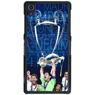 1 Crazy Designer Real Madrid La Decima Back Cover Case For Sony Xperia Z1 C470597