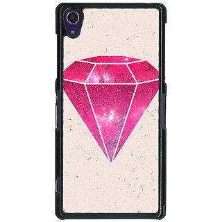 1 Crazy Designer Diamond Back Cover Case For Sony Xperia Z1 C470609