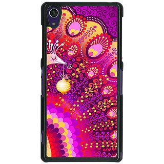 1 Crazy Designer Tribal Peacock Back Cover Case For Sony Xperia Z1 C470803