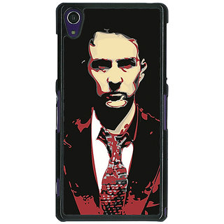 1 Crazy Designer Fight Club Back Cover Case For Sony Xperia Z1 C470808