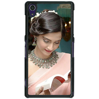 1 Crazy Designer Bollywood Superstar Sonam Kapoor Back Cover Case For Sony Xperia Z1 C471070