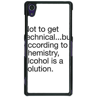 1 Crazy Designer Alcohol Quote Back Cover Case For Sony Xperia Z1 C471310