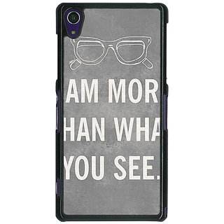 1 Crazy Designer Quote Back Cover Case For Sony Xperia Z1 C471316