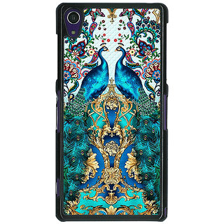 1 Crazy Designer Paisley Beautiful Peacock Back Cover Case For Sony Xperia Z1 C471593