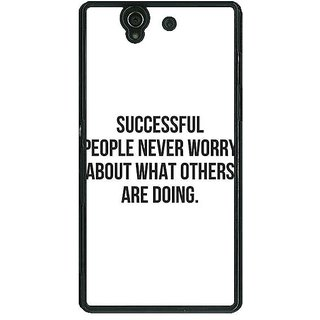 1 Crazy Designer Quotes Back Cover Case For Sony Xperia Z C461194