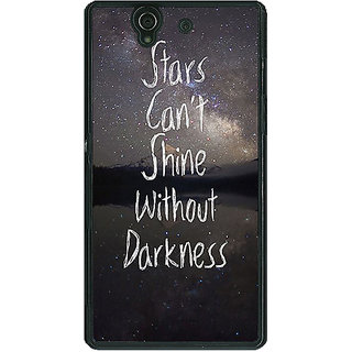 1 Crazy Designer Quote Back Cover Case For Sony Xperia Z C461478