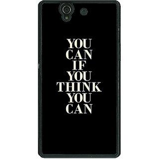 1 Crazy Designer Quote Back Cover Case For Sony Xperia Z C461480