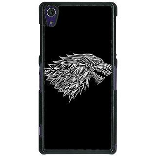 1 Crazy Designer Game Of Thrones GOT House Stark  Back Cover Case For Sony Xperia Z1 C470136