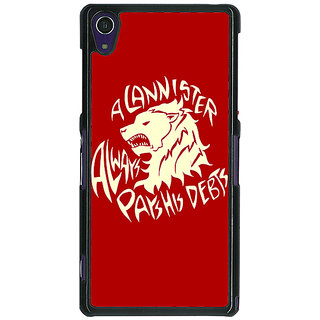 1 Crazy Designer Game Of Thrones GOT House Lannister  Back Cover Case For Sony Xperia Z1 C470156