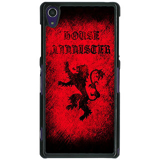 1 Crazy Designer Game Of Thrones GOT House Lannister  Back Cover Case For Sony Xperia Z1 C470166