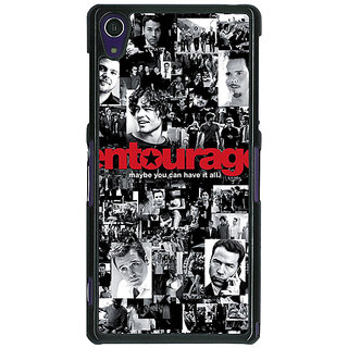 1 Crazy Designer Entourage Back Cover Case For Sony Xperia Z1 C470438