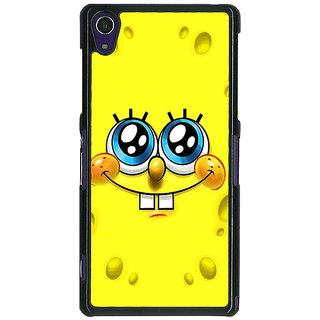1 Crazy Designer Spongebob Back Cover Case For Sony Xperia Z1 C470464