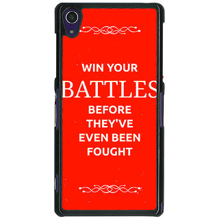 1 Crazy Designer SUITS Quotes Back Cover Case For Sony Xperia Z1 C470477