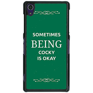 1 Crazy Designer SUITS Quotes Back Cover Case For Sony Xperia Z1 C470479