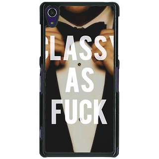 1 Crazy Designer SUITS Quotes Back Cover Case For Sony Xperia Z1 C470483