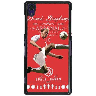 1 Crazy Designer Arsenal Dennis Bergkamp Back Cover Case For Sony Xperia Z1 C470501