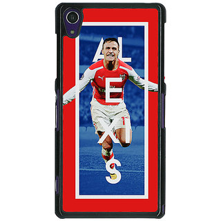 1 Crazy Designer Arsenal Alexis Sanchez Back Cover Case For Sony Xperia Z1 C470506